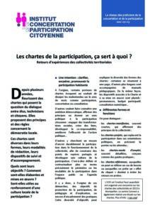 Les chartes de la participation
